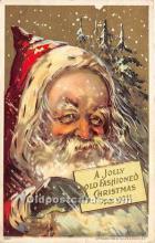 hol017443 - Santa Claus Postcard Old Vintage Christmas Post Card