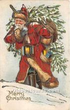 hol017448 - Santa Claus Postcard Old Vintage Christmas Post Card