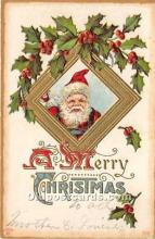 hol017450 - Santa Claus Postcard Old Vintage Christmas Post Card