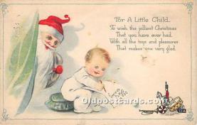hol017452 - Santa Claus Postcard Old Vintage Christmas Post Card