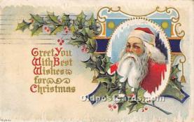hol017454 - Santa Claus Postcard Old Vintage Christmas Post Card