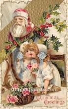 hol017455 - Santa Claus Postcard Old Vintage Christmas Post Card