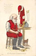 hol017456 - Santa Claus Postcard Old Vintage Christmas Post Card