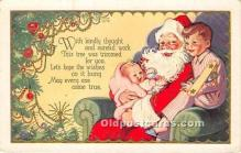 hol017457 - Santa Claus Postcard Old Vintage Christmas Post Card