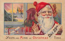 hol017458 - Santa Claus Postcard Old Vintage Christmas Post Card