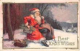 hol017459 - Santa Claus Postcard Old Vintage Christmas Post Card