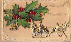 hol017460 - Santa Claus Postcard Old Vintage Christmas Post Card