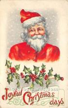 hol017463 - Santa Claus Postcard Old Vintage Christmas Post Card
