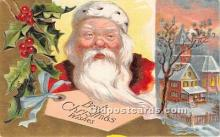 hol017464 - Santa Claus Postcard Old Vintage Christmas Post Card