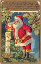 hol017468 - Santa Claus Postcard Old Vintage Christmas Post Card