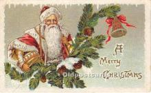 hol017469 - Santa Claus Postcard Old Vintage Christmas Post Card