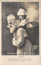 hol017472 - Santa Claus Postcard Old Vintage Christmas Post Card