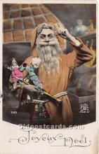 hol017476 - Santa Claus Postcard Old Vintage Christmas Post Card