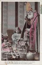 hol017478 - Santa Claus Postcard Old Vintage Christmas Post Card