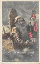 hol017482 - Santa Claus Postcard Old Vintage Christmas Post Card