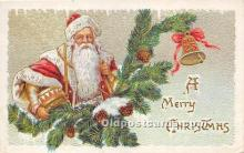 hol017486 - Santa Claus Postcard Old Vintage Christmas Post Card