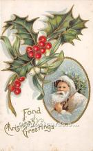 hol017488 - Santa Claus Postcard Old Vintage Christmas Post Card