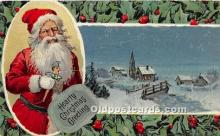 hol017489 - Santa Claus Postcard Old Vintage Christmas Post Card