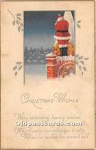 hol017490 - Santa Claus Postcard Old Vintage Christmas Post Card