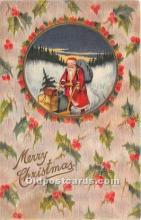 hol017491 - Santa Claus Postcard Old Vintage Christmas Post Card