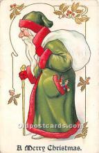hol017492 - Santa Claus Postcard Old Vintage Christmas Post Card