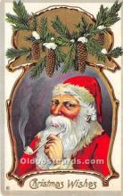 hol017495 - Santa Claus Postcard Old Vintage Christmas Post Card