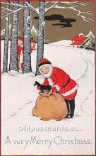 hol017499 - Santa Claus Postcard Old Vintage Christmas Post Card
