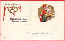 hol017500 - Santa Claus Postcard Old Vintage Christmas Post Card
