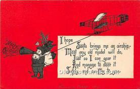 hol017501 - Santa Claus Postcard Old Vintage Christmas Post Card