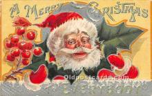 hol017505 - Santa Claus Postcard Old Vintage Christmas Post Card