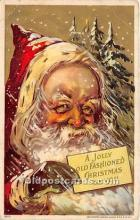 hol017506 - Santa Claus Postcard Old Vintage Christmas Post Card