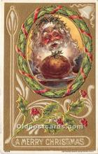 hol017509 - Santa Claus Postcard Old Vintage Christmas Post Card