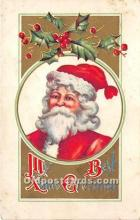 hol017511 - Santa Claus Postcard Old Vintage Christmas Post Card