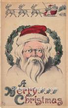 hol017512 - Santa Claus Postcard Old Vintage Christmas Post Card