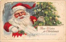 hol017513 - Santa Claus Postcard Old Vintage Christmas Post Card