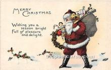 hol017516 - Santa Claus Postcard Old Vintage Christmas Post Card
