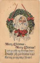 hol017517 - Santa Claus Postcard Old Vintage Christmas Post Card