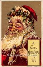 hol017519 - Santa Claus Postcard Old Vintage Christmas Post Card