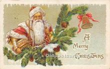 hol017522 - Santa Claus Postcard Old Vintage Christmas Post Card