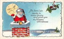 hol017523 - Santa Claus Postcard Old Vintage Christmas Post Card