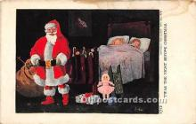 hol017525 - Santa Claus Postcard Old Vintage Christmas Post Card