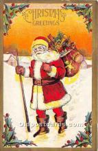 hol017526 - Santa Claus Postcard Old Vintage Christmas Post Card