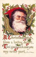 hol017529 - Santa Claus Postcard Old Vintage Christmas Post Card