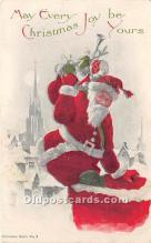 hol017533 - Santa Claus Postcard Old Vintage Christmas Post Card