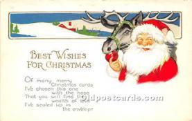 hol017535 - Santa Claus Postcard Old Vintage Christmas Post Card