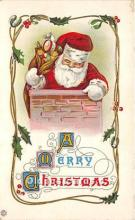 hol017536 - Santa Claus Postcard Old Vintage Christmas Post Card