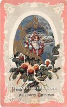 hol017542 - Santa Claus Postcard Old Vintage Christmas Post Card