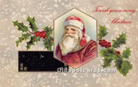 hol017546 - Santa Claus Postcard Old Vintage Christmas Post Card
