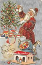 hol017553 - Santa Claus Postcard Old Vintage Christmas Post Card