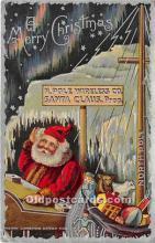 hol017563 - Santa Claus Postcard Old Vintage Christmas Post Card